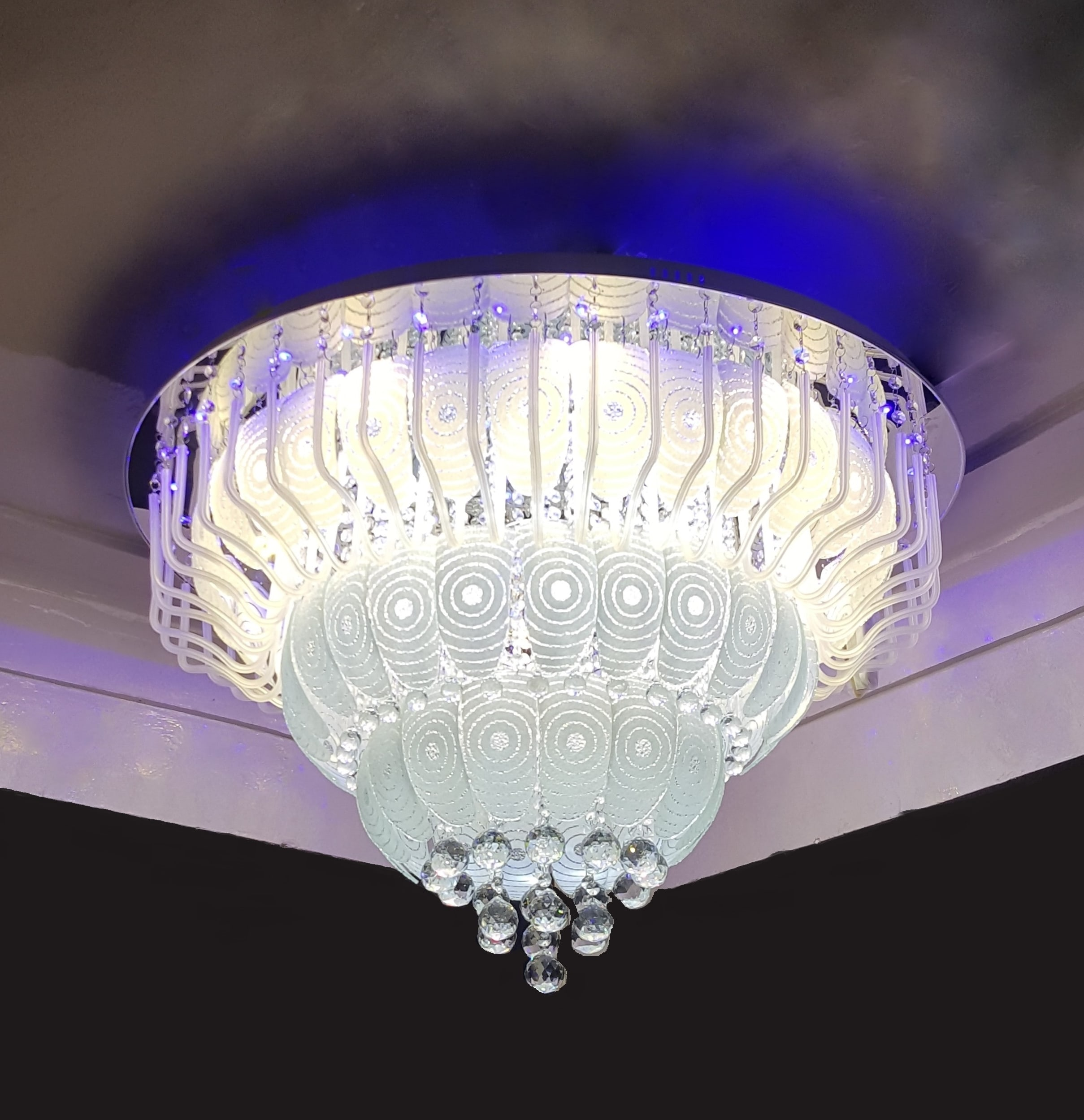 Perfect ... Jhoomer For Home Decorated Light. 1000mm Chandeliers Online In India