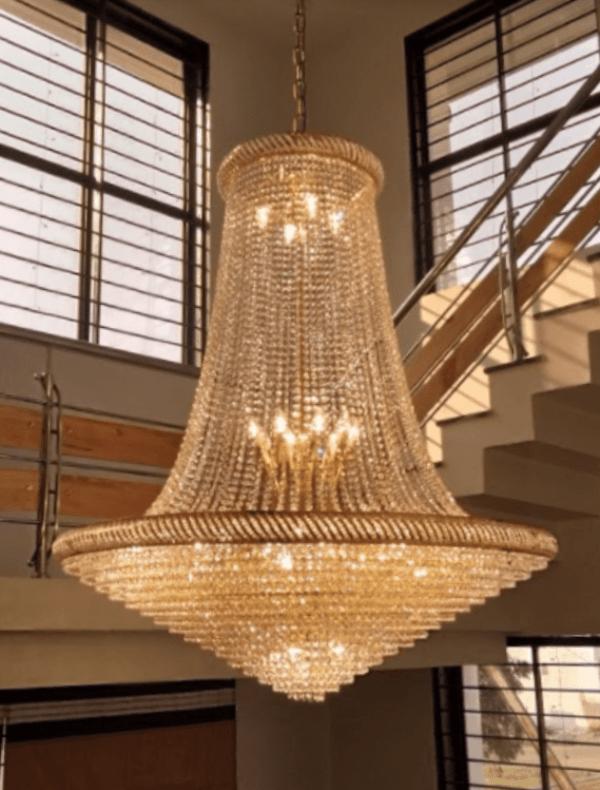 Low Cost Big Size Golden Chandelier