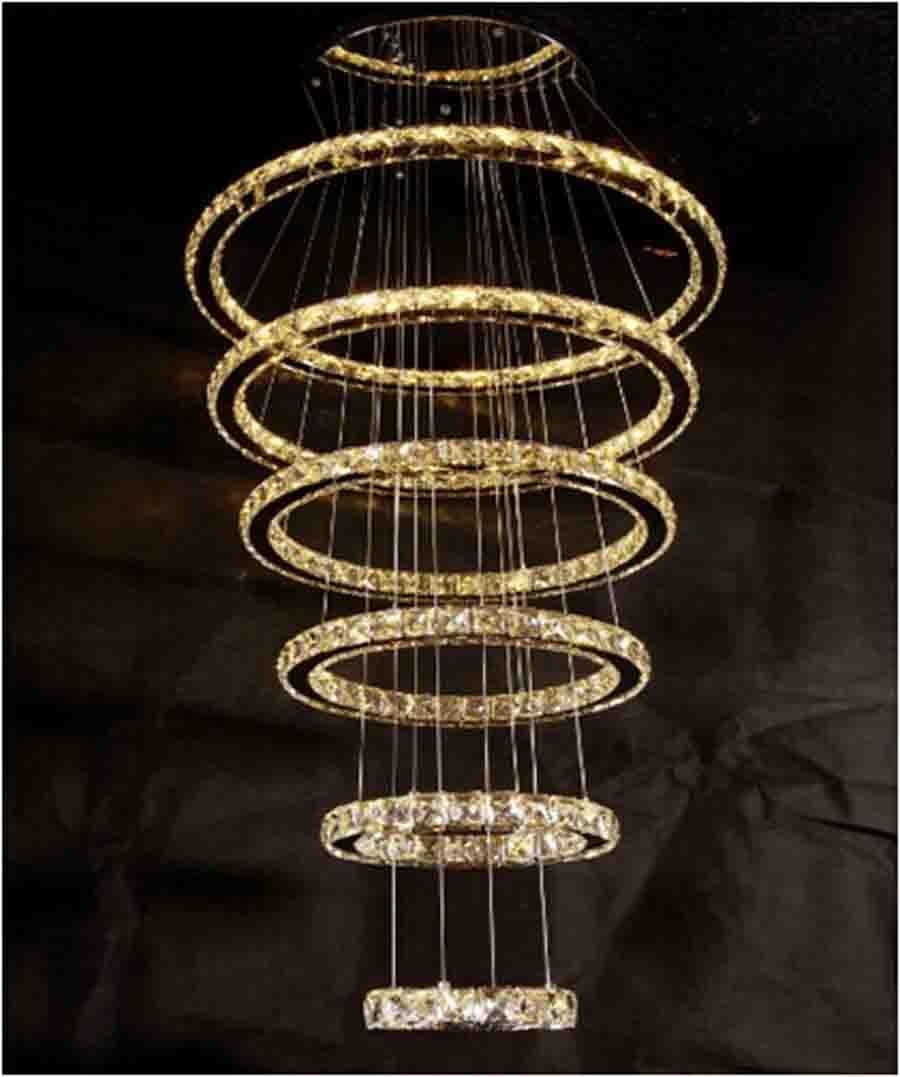 Ring Shape Crystal Led Chandelier