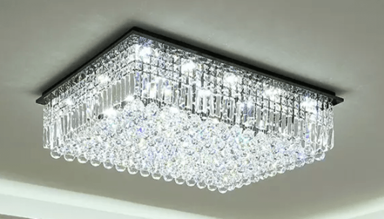 Crystal Decorative Jhumar, Rectangular Shaped Chandeliers
