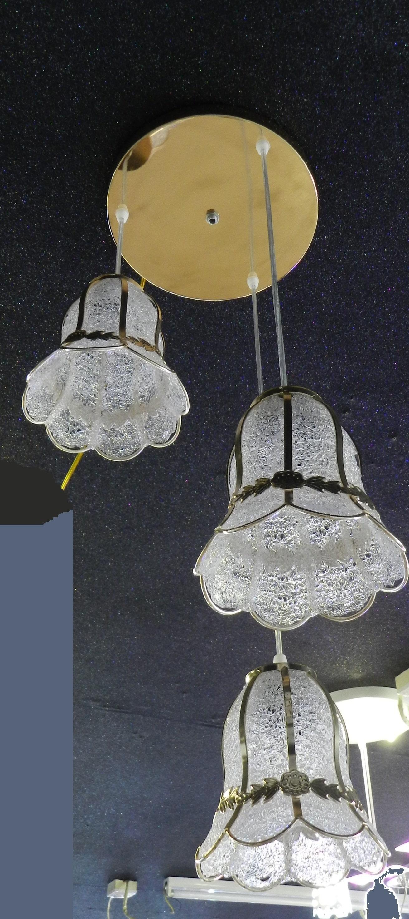 Antique rotational gold padding hanging lantern