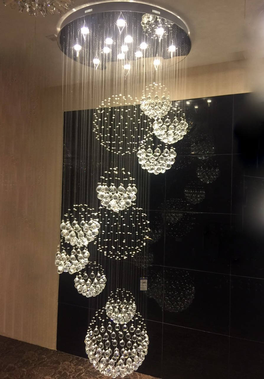 Double Floor Home Crystal Chandeliers